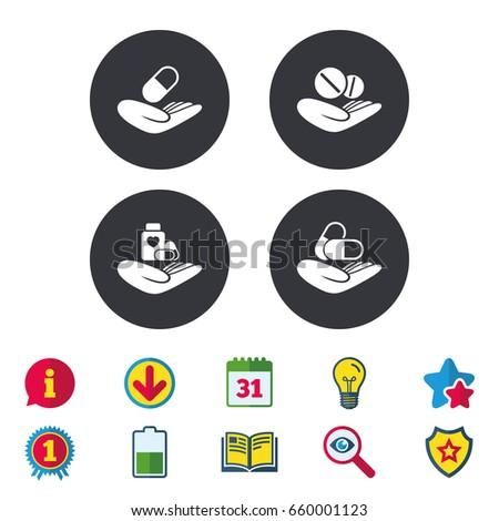 helping hands icons medical