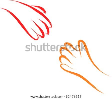helping hands sketch
