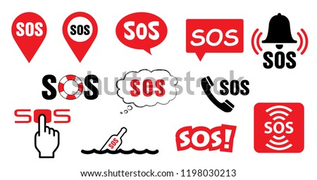 Helpline SOS symbool Medical logo Vector medic 112 911 000 icon Lifebuoy, distress signal Life saver signs Call pointer helping alarm icons Help location marker Safety first emergency for CPR AID AED Stockfoto ©