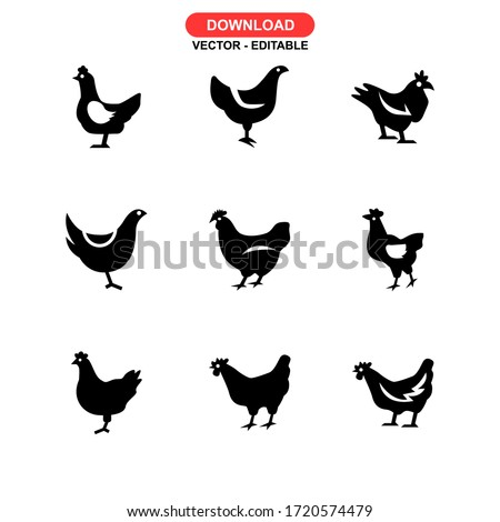 hen icon or logo isolated sign symbol vector illustration - Collection of high quality black style vector icons