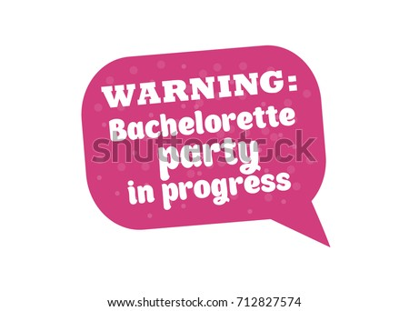 Hen Party Bachelorette Vector Element For Cards T Shirts Stickers Invitations