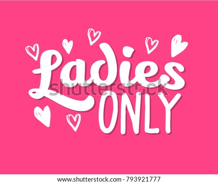 Hen Party Ladies only Bachelorette vector element for cards, t-shirts, stickers, invitations.