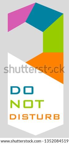 Henger 'Do not disturb' Stock fotó ©