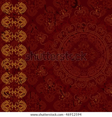 Henna Abstract paisley design