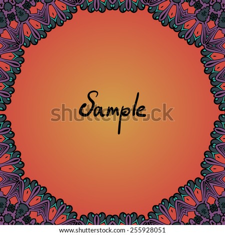 stock-vector-henna-color-frame-for-text-