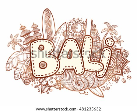 henna colors vector bali sign