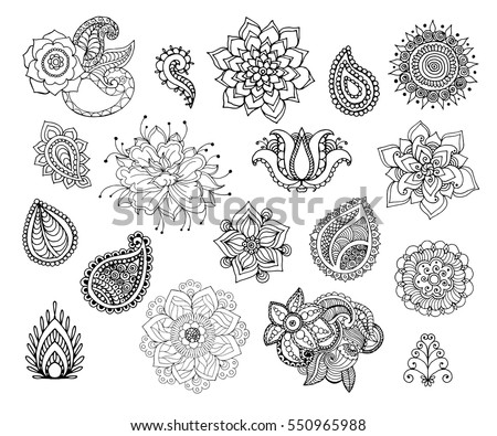 Henna Art Vector Illustration Download Free Vector Art Stock