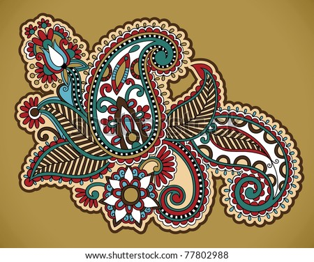 Henna Floral Tattoo Design Ornamental Decorations Stock Vector