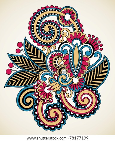 East Indian Tattoos on Henna Floral Tattoo Design  Ornamental Decorations Stock Vector