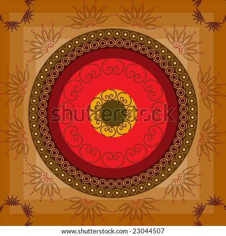 Henna inspired background(tile) - stock vector
