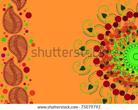 Henna mandala background - stock vector