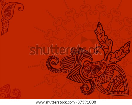 henna paisley background. africa
