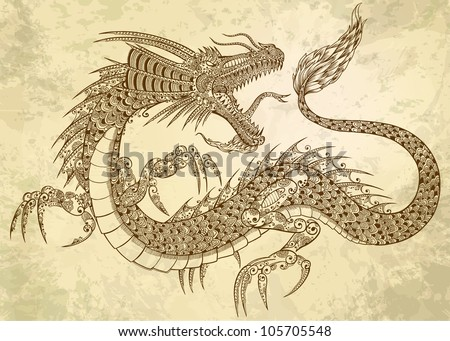 tattoo-dragon-doodle-sketch-tribal-grunge-vector-illustration-art