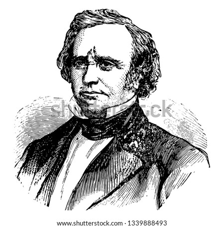 Henry Wilson 1812 to 1875 he was the vice president of the United States and United States senator from Massachusetts vintage line drawing or engraving illustration