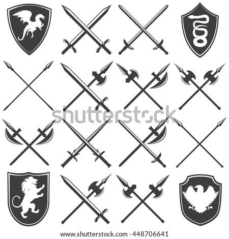 heraldic armory graphic icons