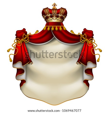 heraldic background with a red...