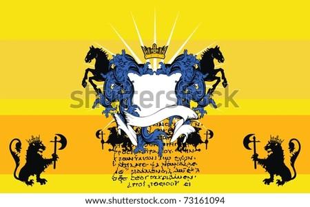 heraldic coat of arms background in vector format - stock vector