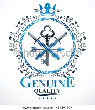 heraldic coat of arms  vintage