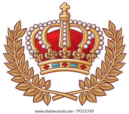 heraldic crown emblem