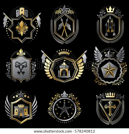 heraldic decorative emblems