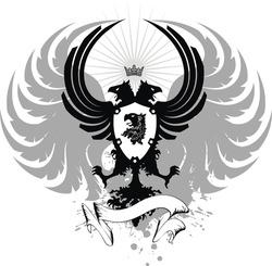 heraldic eagle double head in vector format very easy to edit