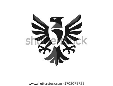 heraldic eagle symbol or falcon