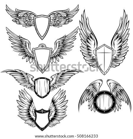 heraldic elements monochrome