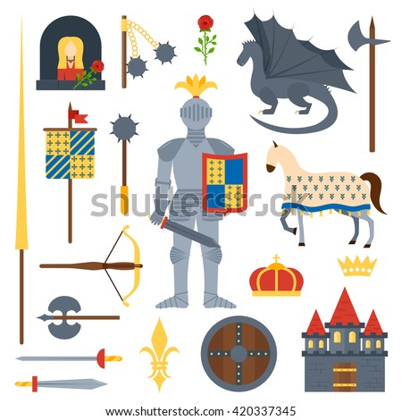 heraldic knight symbols and