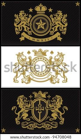Heraldic Luxury Crest Set 1