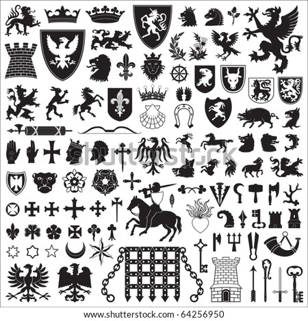 Gothic Symbols and Meanings http://www.shutterstock.com/pic-64256950/stock-vector-heraldic-symbols-and-elements.html