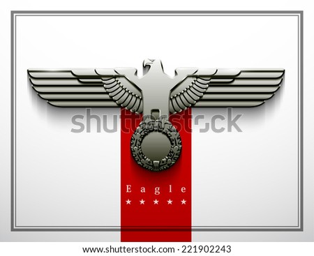 heraldry eagle wings vector