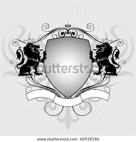 Heraldry lion shield