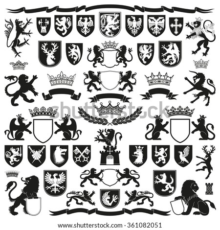 heraldry symbols and decorative