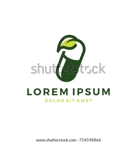 herbal capsule pill leaf medicine drug logo vector icon download