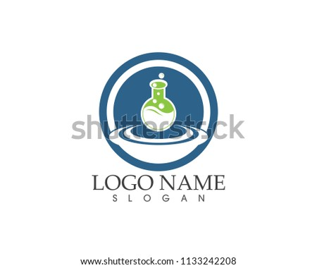 Herbal lab icon logo vector template