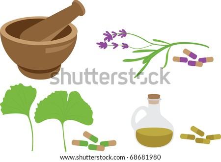 herbal mdeicine set