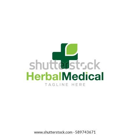 Herbal medical logo design