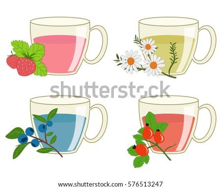 herbal teas of four kinds