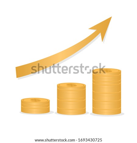 here is a chart made of coins