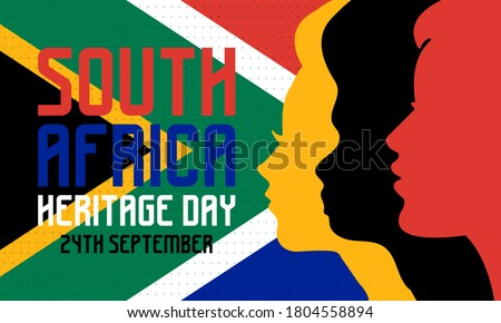 Heritage Day in South Africa. Public holiday celebrated on 24 September. On this day, South Africans are encouraged to celebrate their culture and the diversity of their beliefs and traditions. Vector