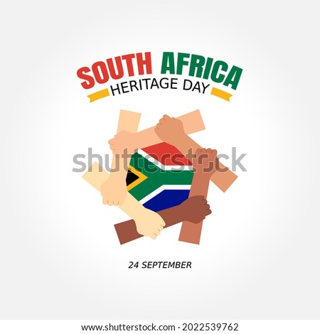 Heritage Day South Africa Vector Illustration. Suitable for greeting card, poster and banner.