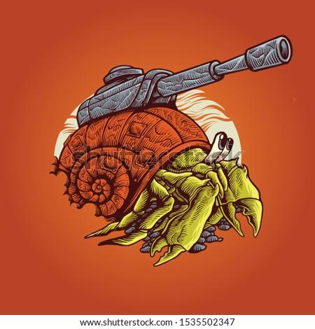 hermit crab war machine
