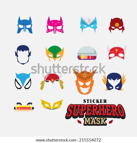 hero mask face character