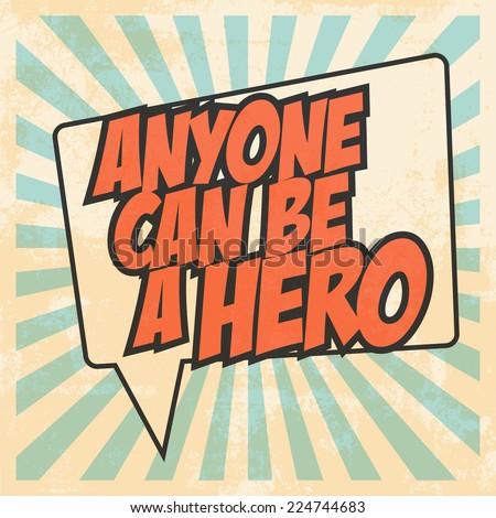 hero pop art  illustration in