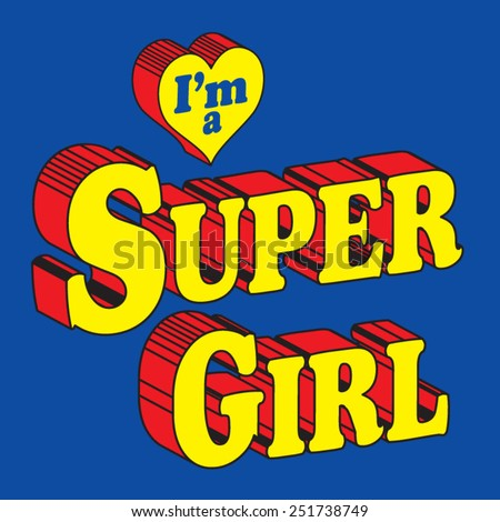 hero super girl typography  t