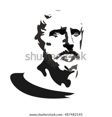 herodotus   vector portrait