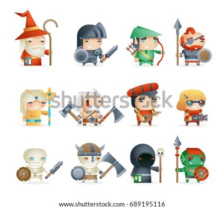 heroes villains minions fantasy