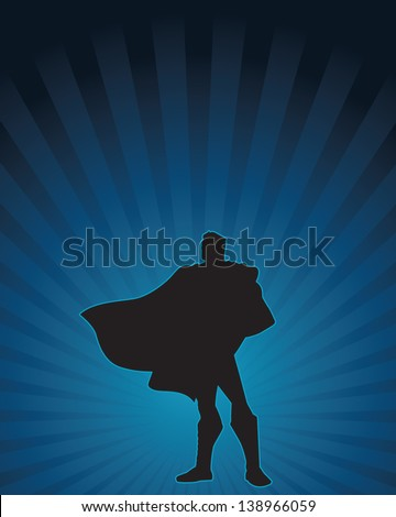 heroic silhouette of a