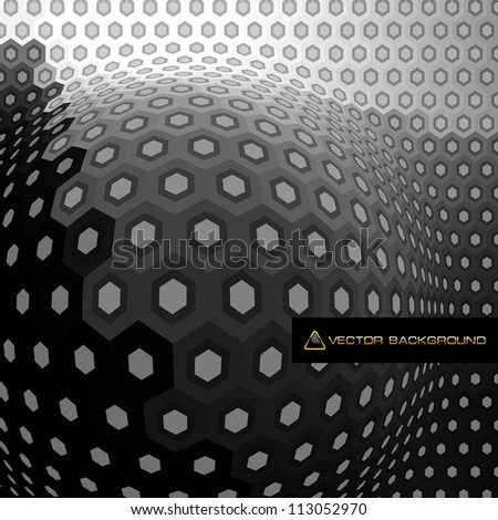 Hexagon abstract background. Vector illustration.