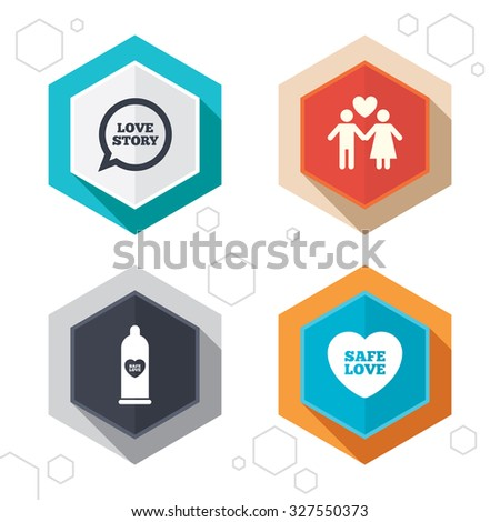 hexagon buttons condom safe